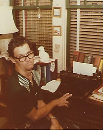 Brother at Desk with Typewriter