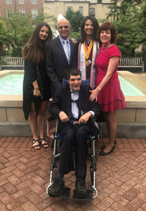 Ryan with his family at graduation